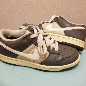 Nike Shoes - Nike Women's low dunks size 7.5 gray/white/glitter